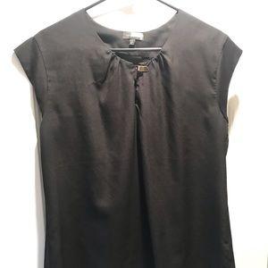 Black cap sleeve blouse